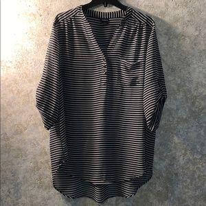 Torrid size 2 sheer striped blouse.  Perfect